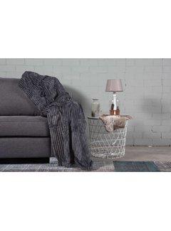 Nightlife Home Woondeken Flanel Rib Antraciet 150x200