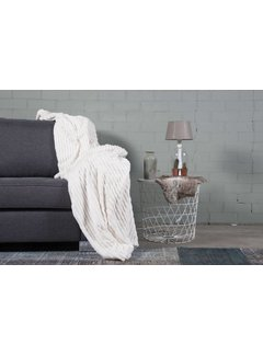 Nightlife Home Woondeken Flanel Rib Ecru 150x200