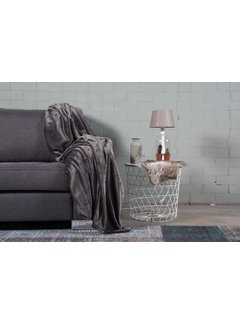 Nightlife Home Woondeken Flanel Fleece Antraciet