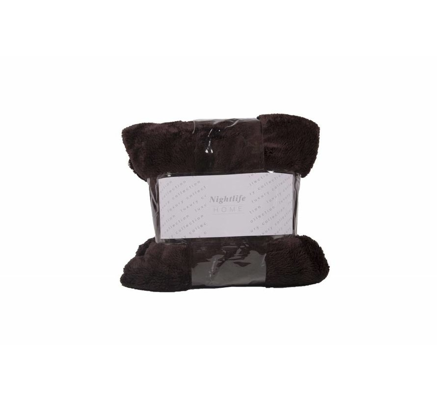 Woondeken Fluffy Bruin 150x200