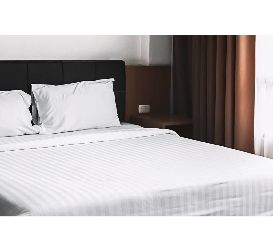 Dekbedovertrek Hotel Stripe Wit 240x200/220