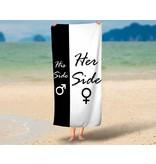 Strandlaken His Side Her Side