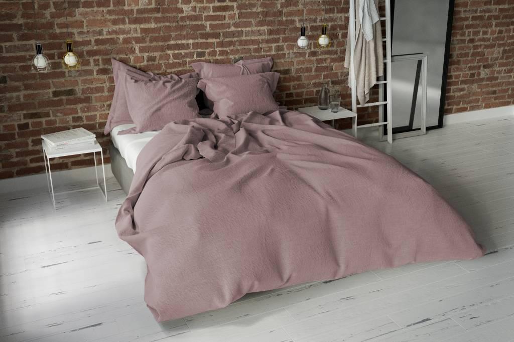 New Dekbedovertrek Washed Uni Oud Roze - Nightlifeliving @XS82