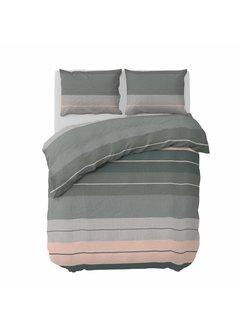 Pierre Cardin Dekbedovertrek Striped Linen Groen