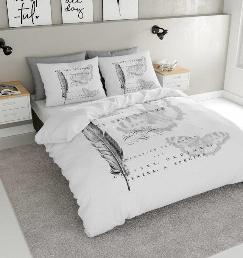 Nightlife Concept Dekbedovertrek Feathers Wit