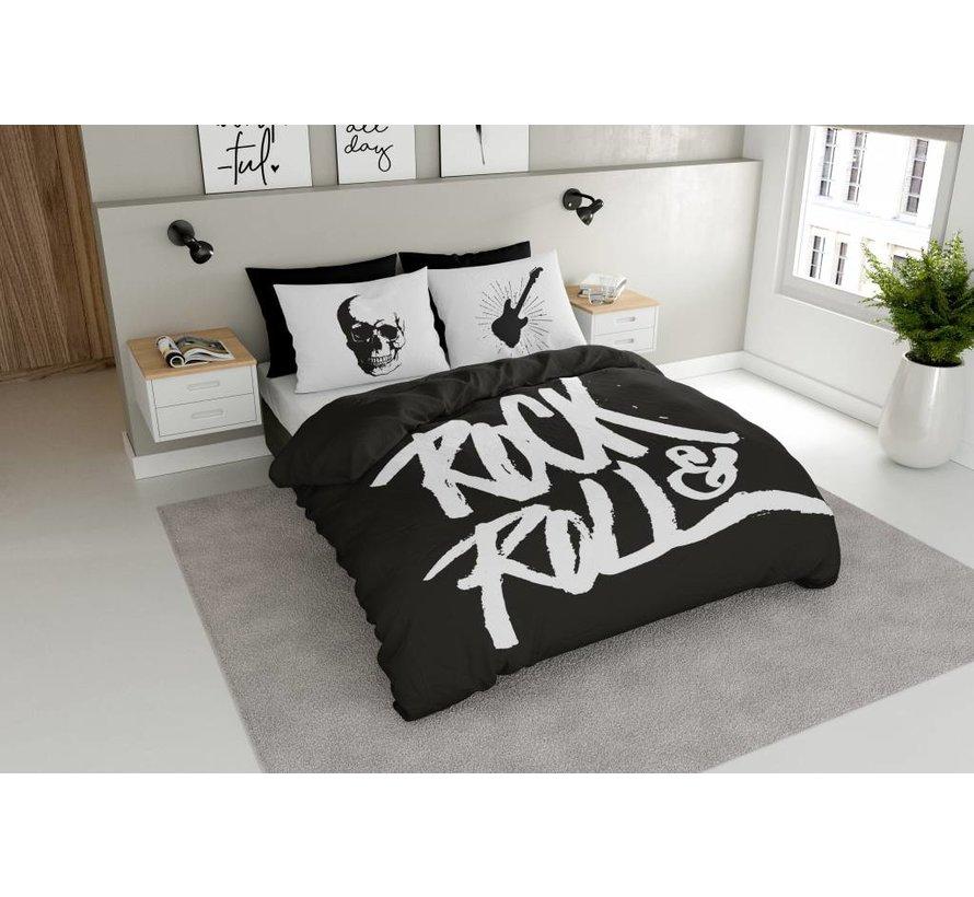 Dekbedovertrek Rock N Roll Zwart
