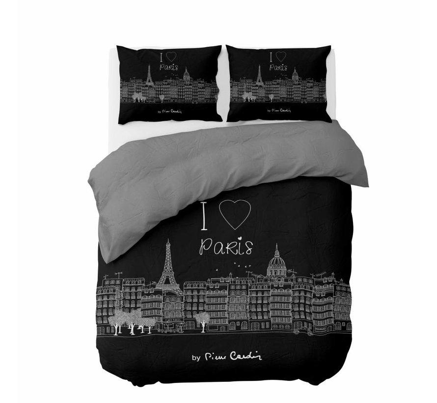 Dekbedovertrek I Love Paris Zwart
