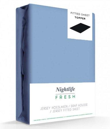 Blauw Jersey Topper Hoeslaken 150 gram