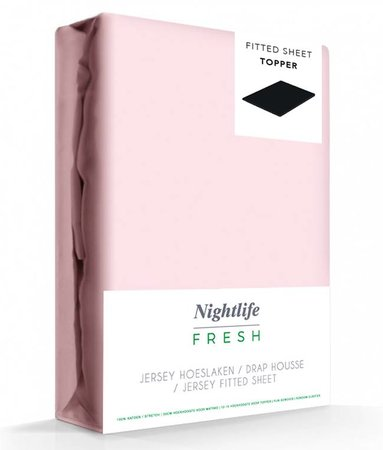 Zacht Roze Jersey Topper Hoeslaken 150 gram