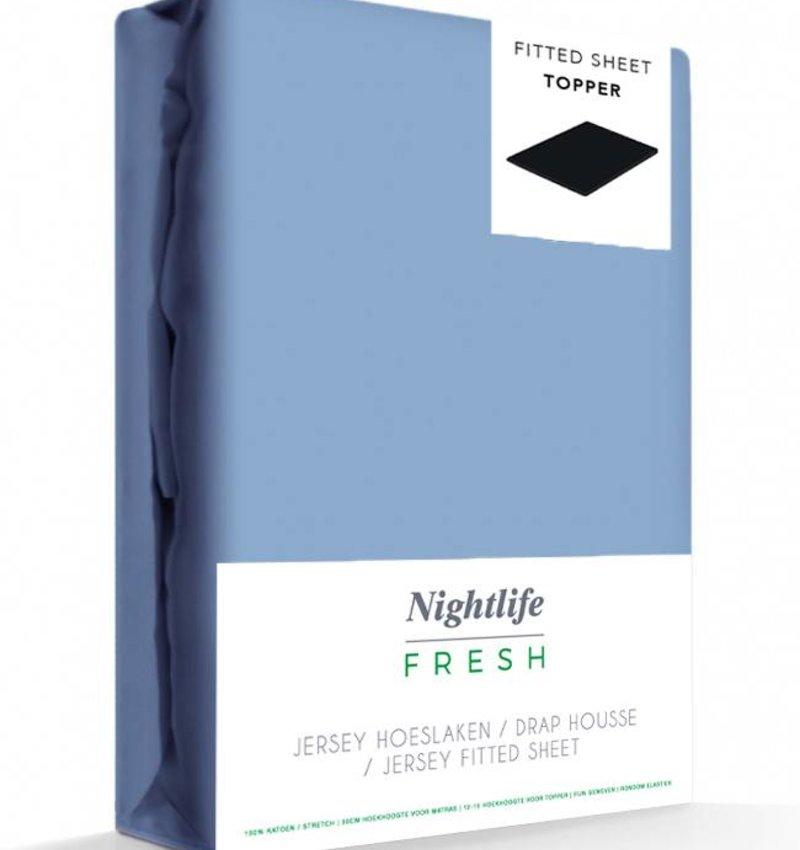 Blauw Jersey Hoeslaken 150 gram