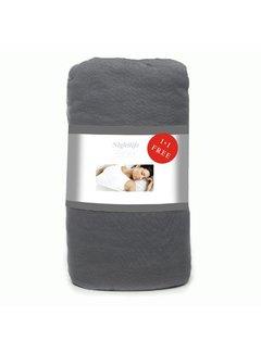 Wake-Up! Bedding Antraciet Jersey Hoeslaken 1+1 gratis