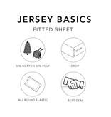 Wake-Up! Bedding Taupe Jersey Hoeslaken 1+1 gratis
