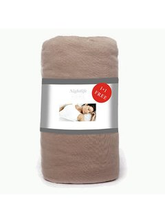 Wake-Up! Bedding Taupe Jersey Hoeslaken 1+1 gratis
