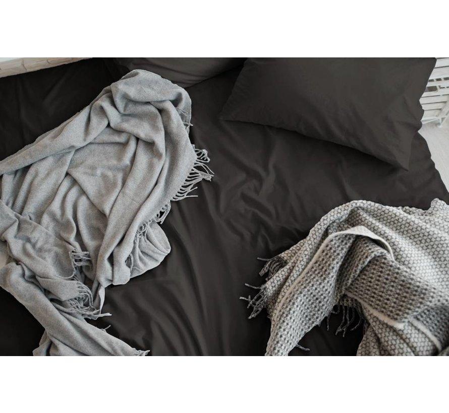 Verkoelende kussensloop katoen - satijn Donker Grijs