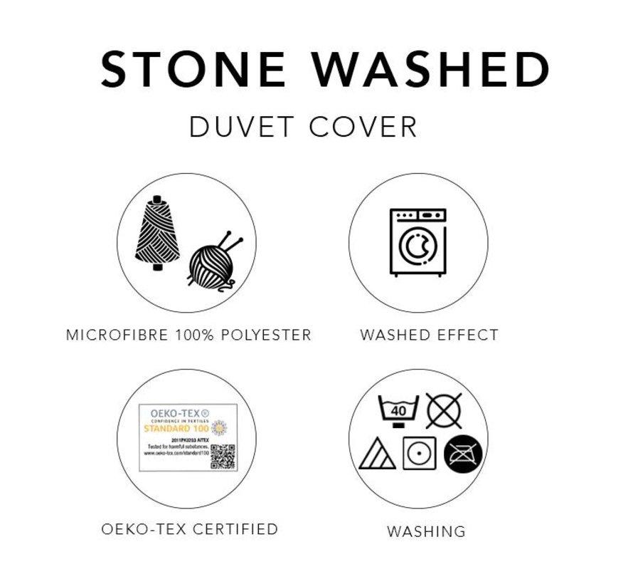 Dekbedovertrek Washed Uni Olive