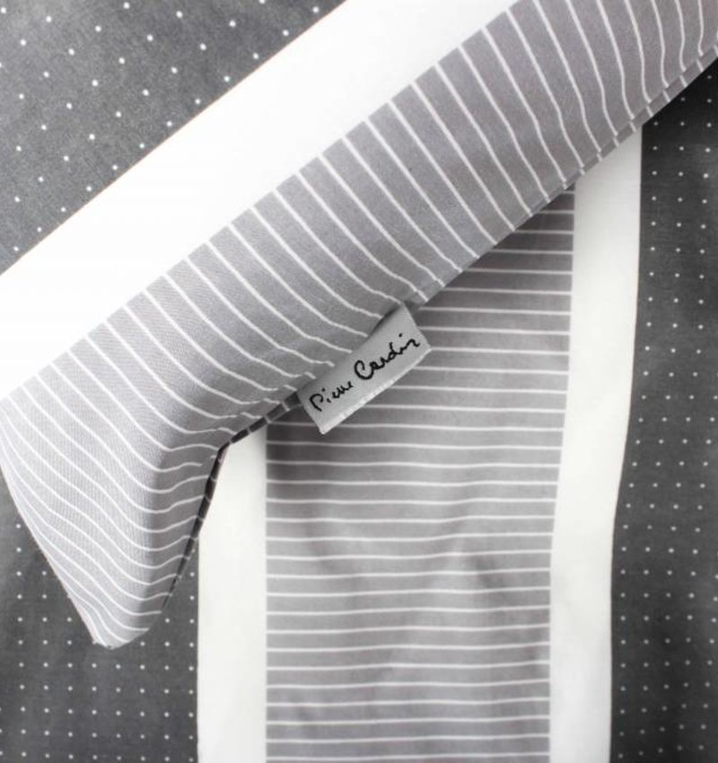 Pierre Cardin Dekbedovertrek Classic Stripe Grijs