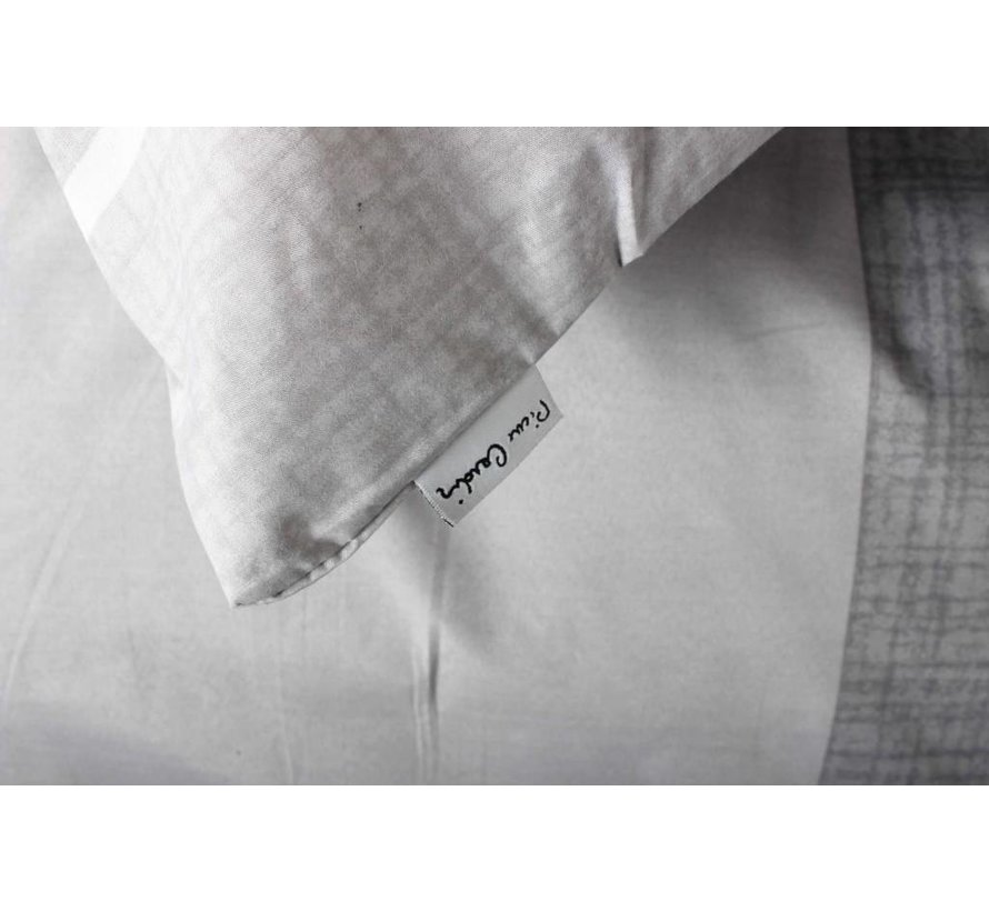 Dekbedovertrek Striped Linen Grijs