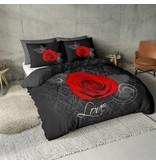 Nightlife Concept Dekbedovertrek Roos met Barok Zwart en Rood