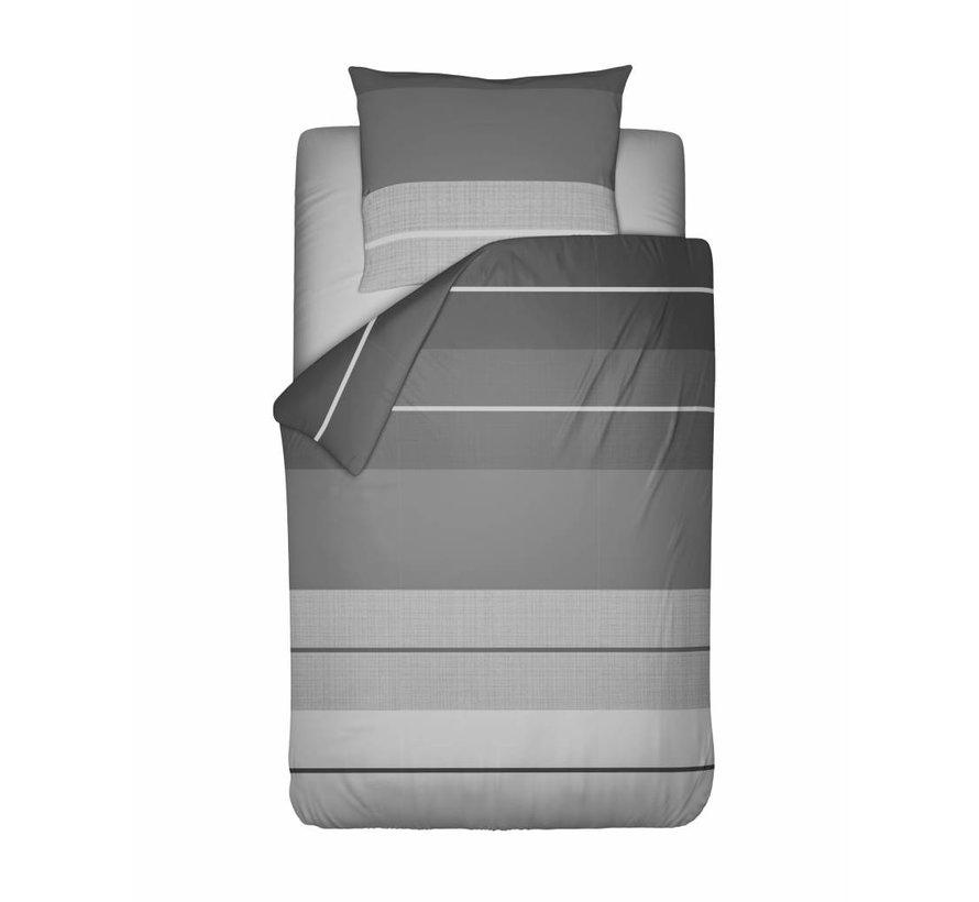 Dekbedovertrek Striped Linen Grijs Flanel