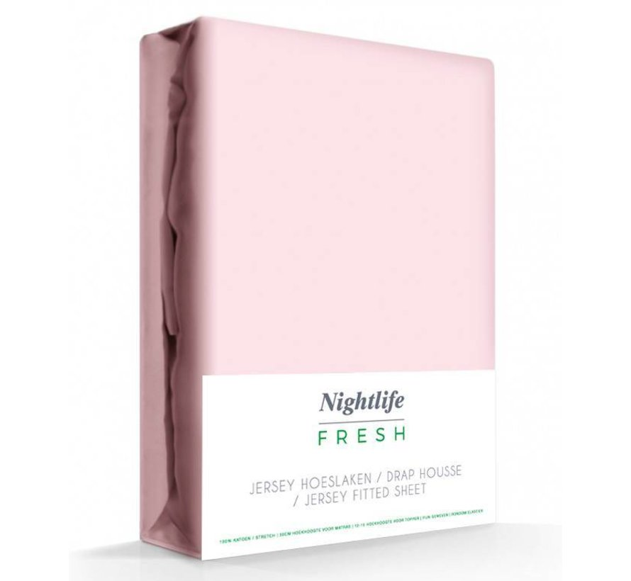 Zacht Roze Jersey Hoeslaken 150 gram