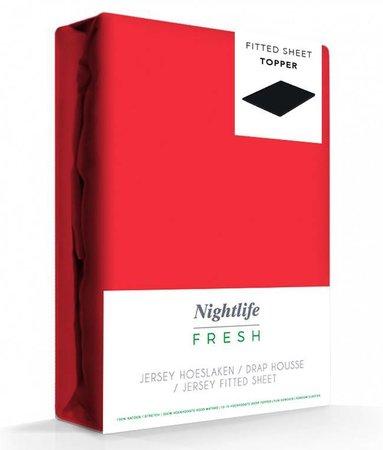 Rood Jersey Topper Hoeslaken 150 gram