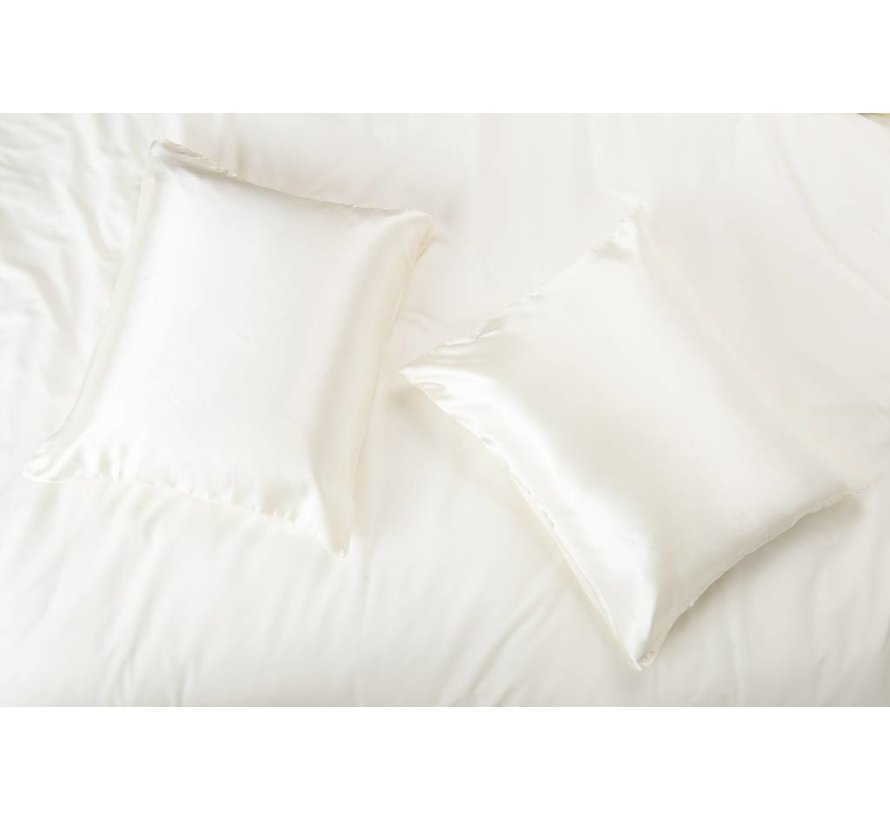 Satin pillow case Ecru