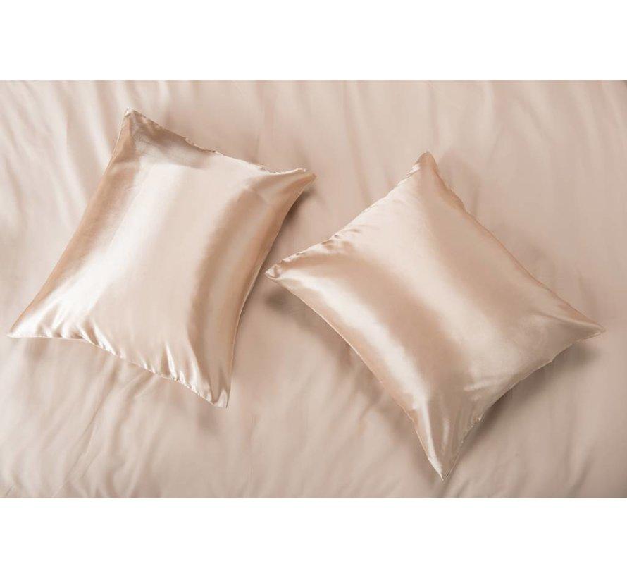 Satin pillow case Taupe