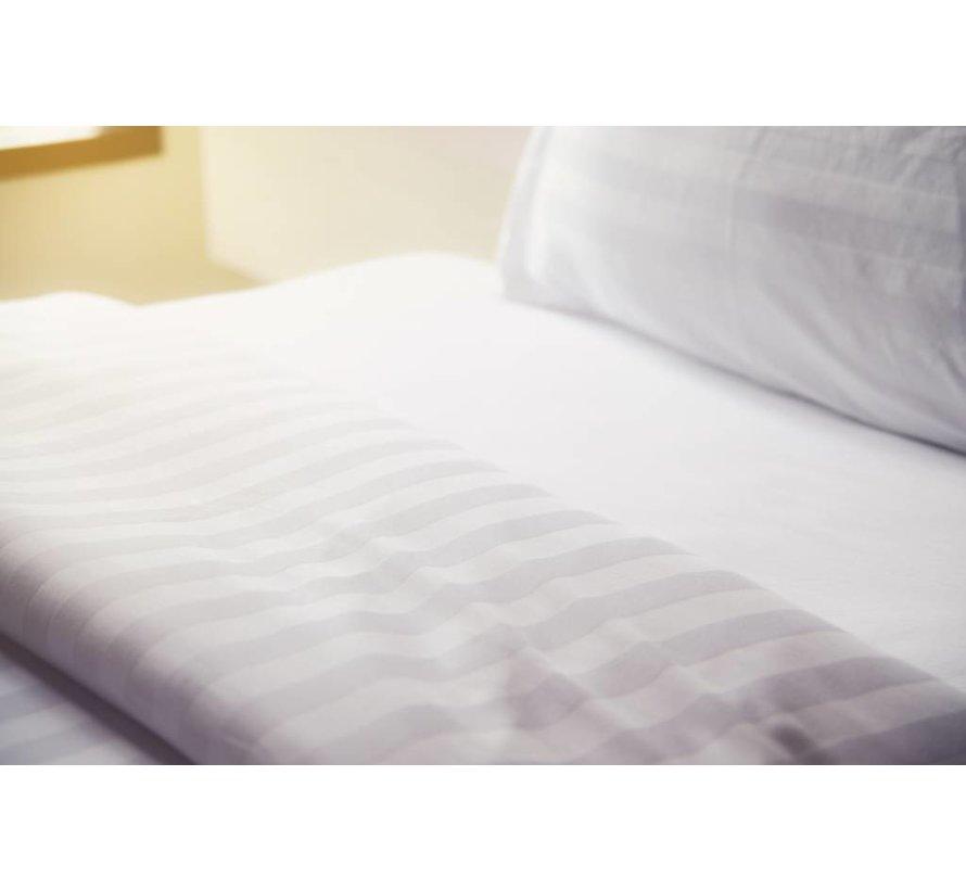 Dekbedovertrek Hotel Stripe Wit 140x200/220