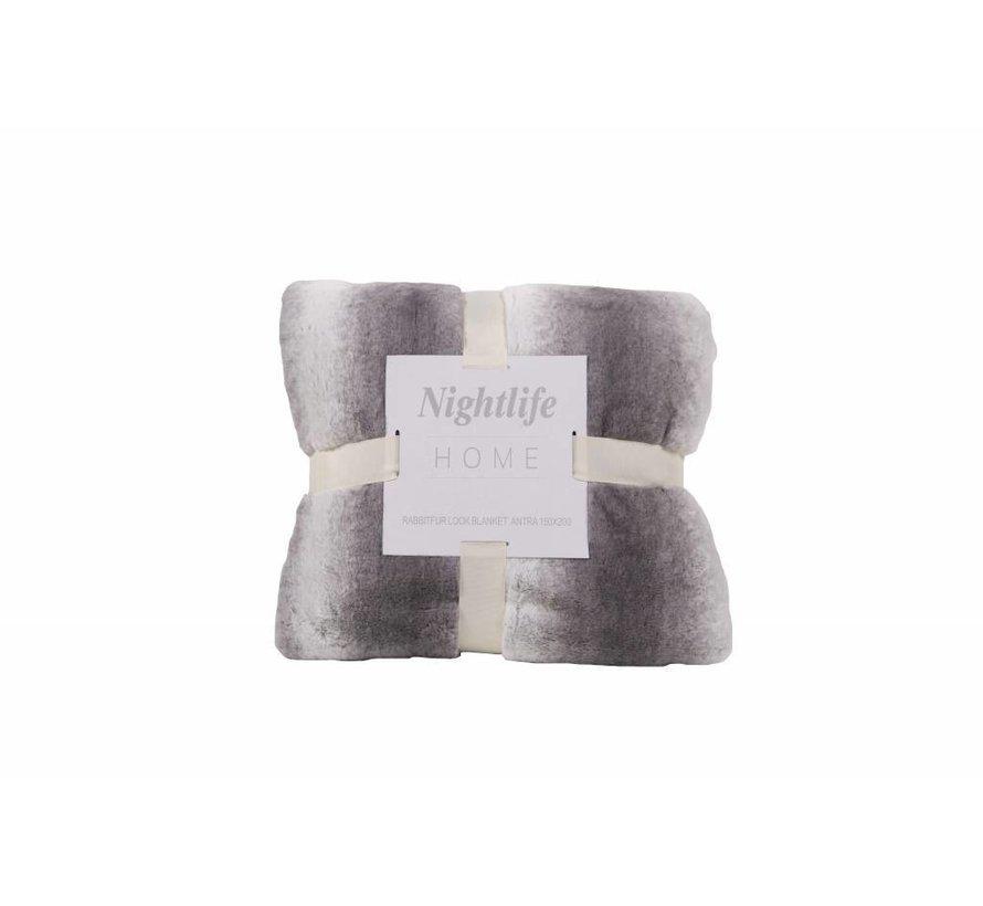 Woondeken Faux Fur Antraciet 150x200