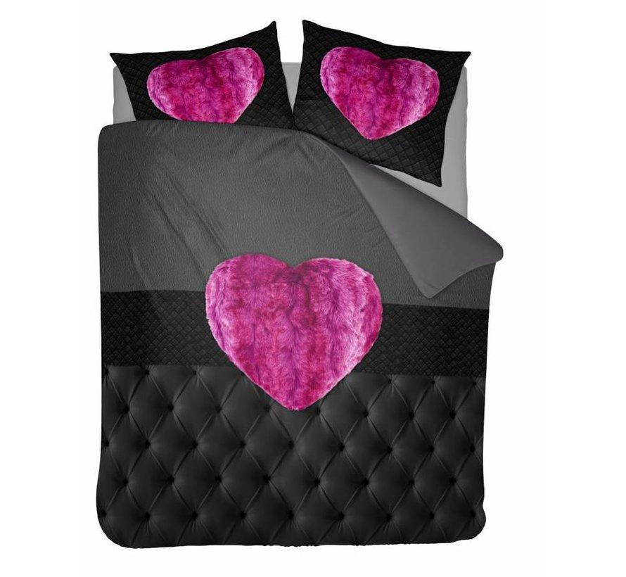 Dekbedovertrek Fur Heart Fuchsia Roze
