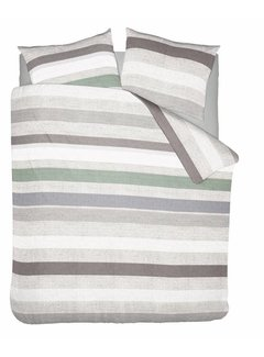 Nightlife Wake Up Dekbedovertrek Pastel Stripe Groen