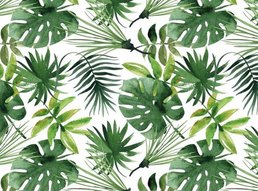 Loft Seven Vloerkleed Monstera Botanic Green