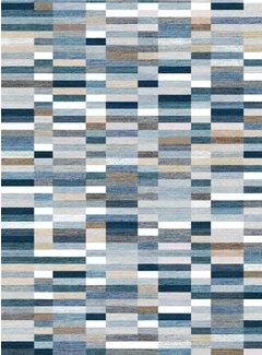 Loft Seven Vloerkleed Qube Pattern Blauw