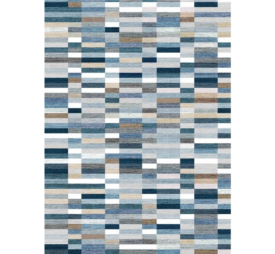 Vloerkleed Qube Pattern Blauw