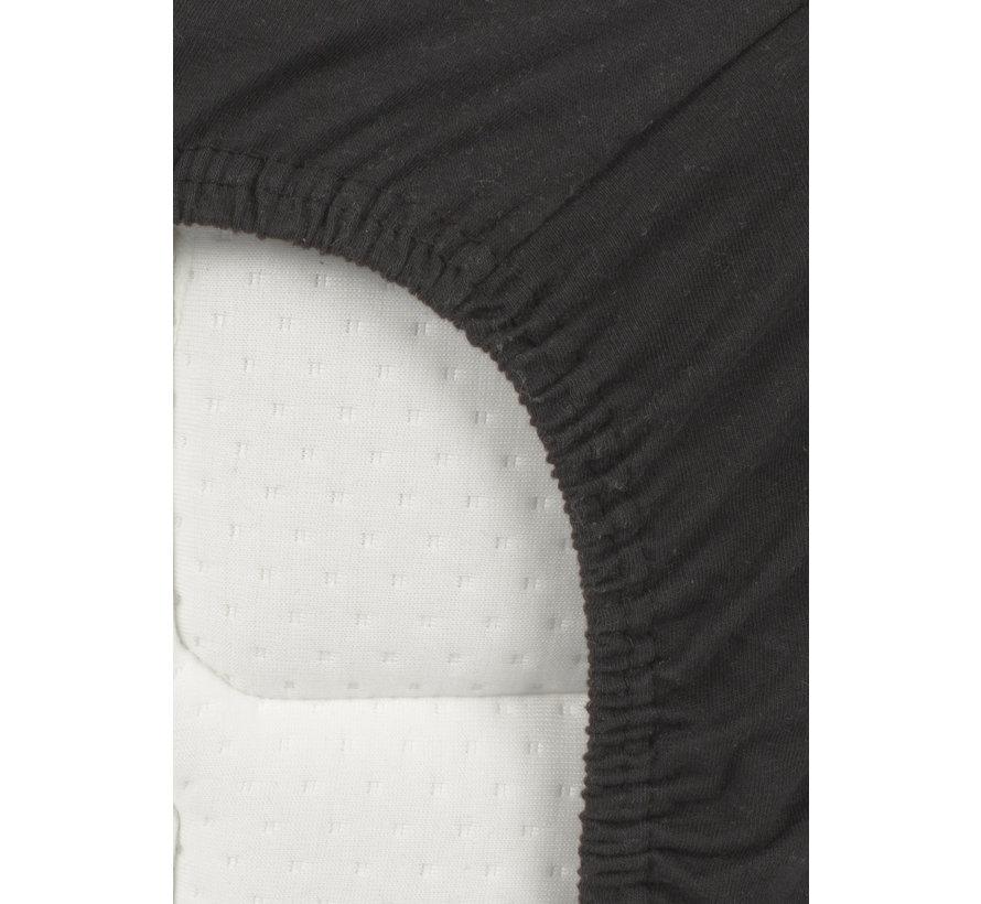 Zwart Jersey Topper Hoeslaken 150 gram