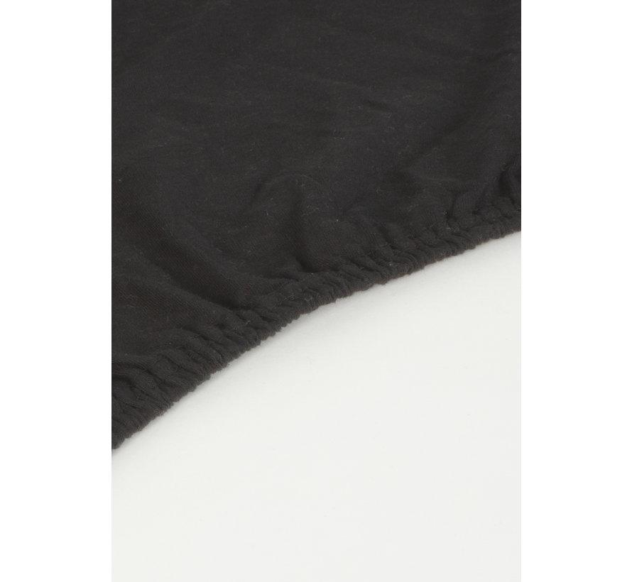 Zwart Jersey Hoeslaken 150 gram
