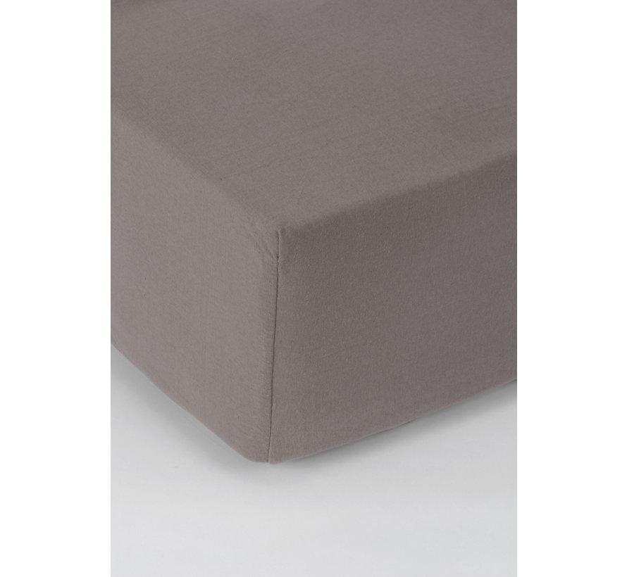 Taupe Jersey Hoeslaken 150 gram