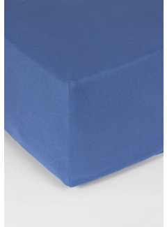 Nightlife Blue Hoeslaken Dubbel Jersey Interlock Hemels Blauw