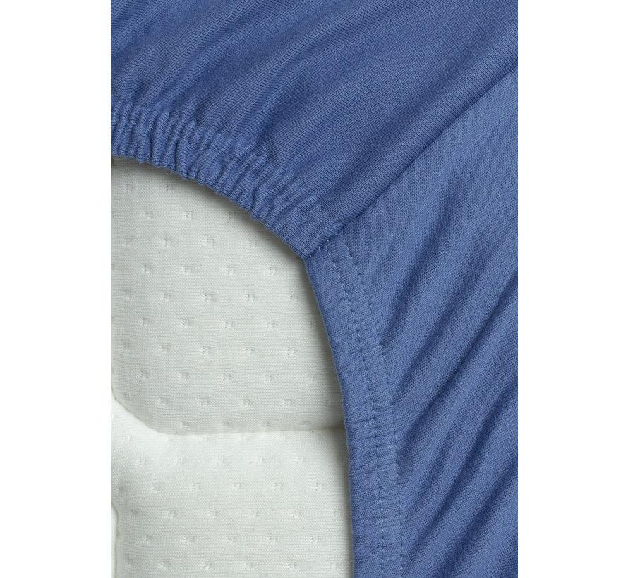 Hoeslaken Dubbel Jersey Interlock Hemels Blauw Topper