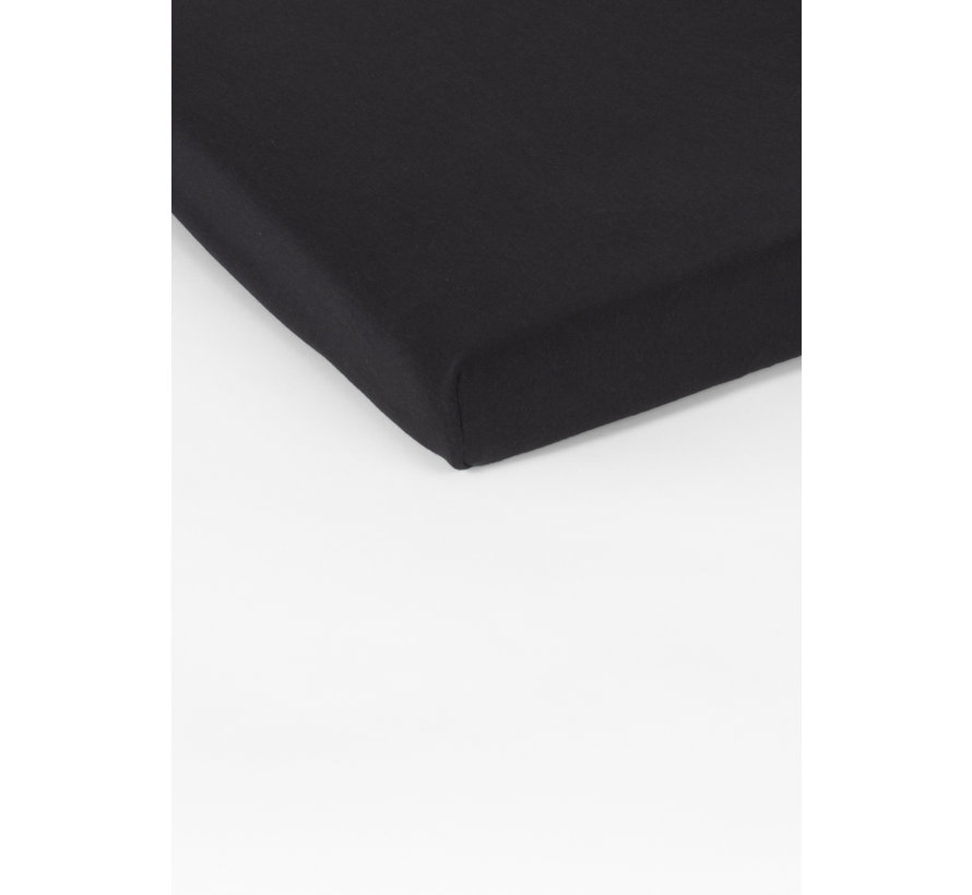 Hoeslaken Dubbel Jersey Interlock Zwart Topper
