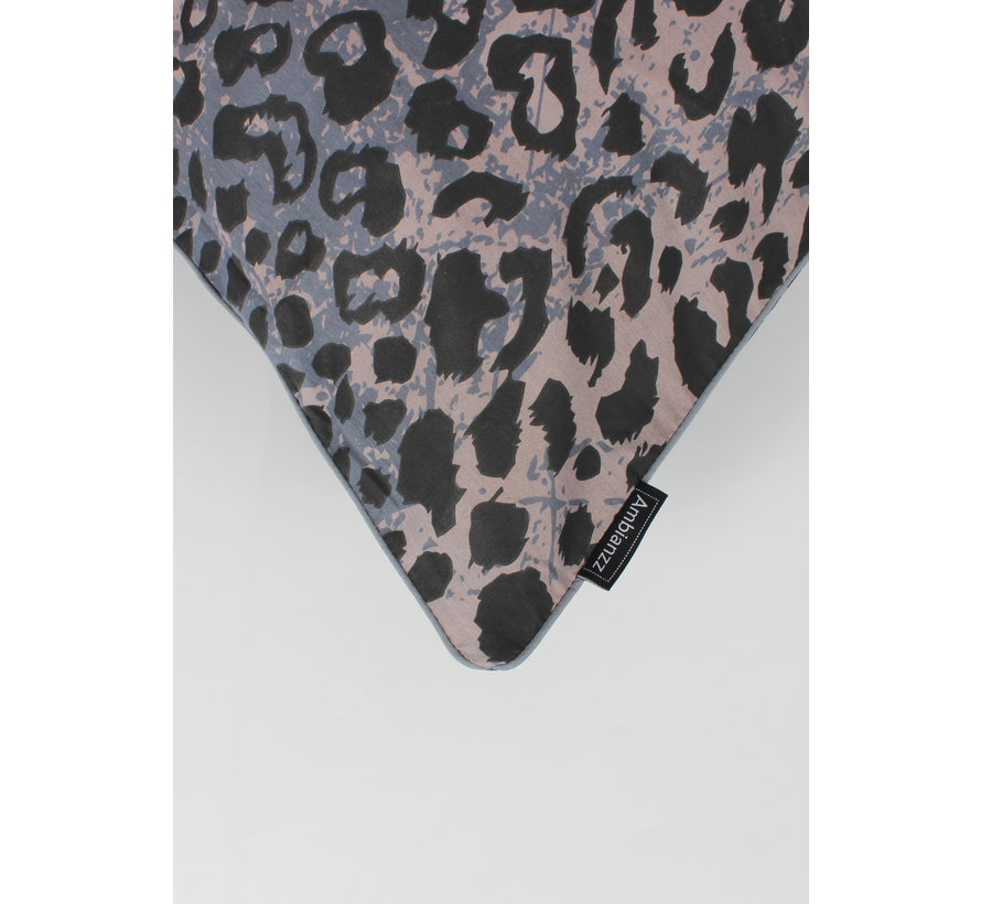 Dekbedovertrek - Luipaardprint Blauw
