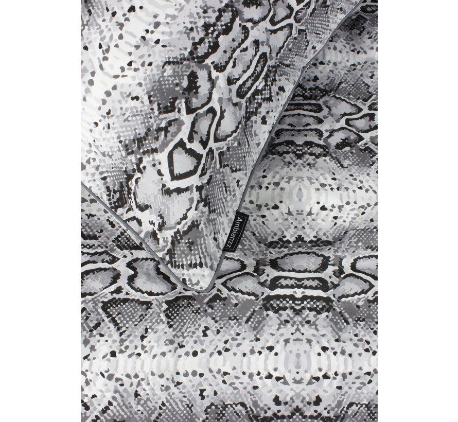 Dekbedovertrek - Python print Grijs