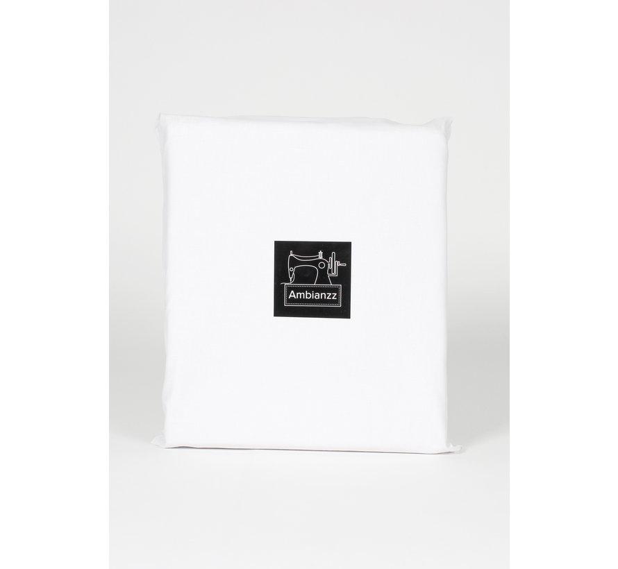 Dekbedovertrek - Effen met een Bies Wit