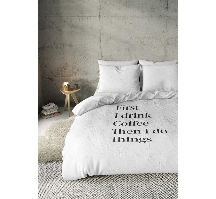 Dekbedovertrek - Coffee first