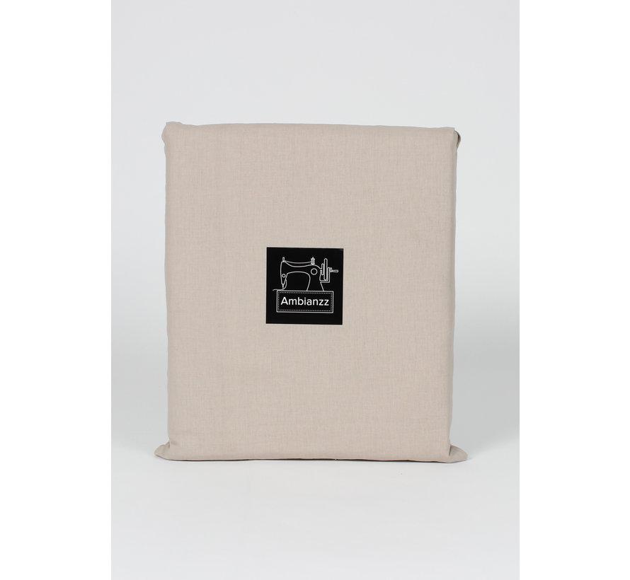 Dekbedovertrek  - Vintage washed linnen katoen Zand