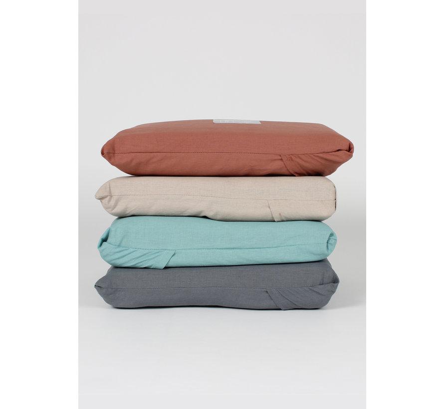 Dekbedovertrek - Vintage washed linnen katoen grijsblauw