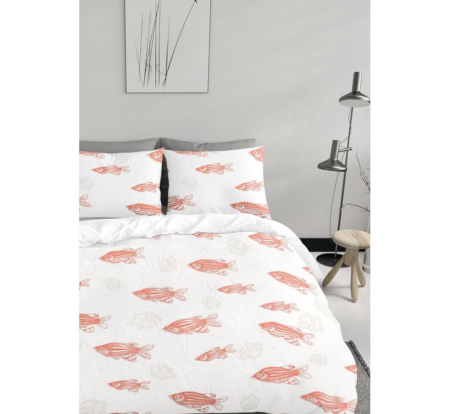 Dekbedovertrek - Living Coral fish