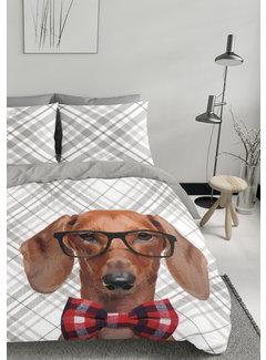 Nightlife Dekbedovertrek - Hond met strik
