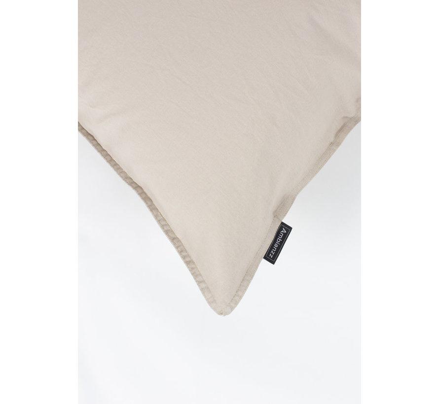 Kussenslopen - Vintage washed linnen katoen zand (per 2 verpakt)