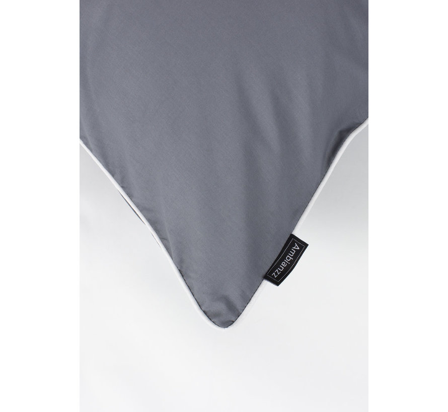 Kussensloop - Cotton solid Donkergrijs